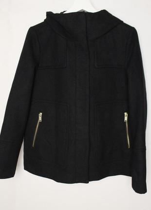 Zara короткое пальто с капюшоном куртка