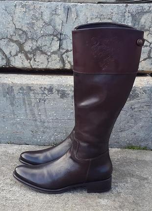 Кожаные демисезонные брендовые сапоги tremp 39 р. италия оригинал