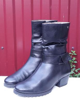 Кожаные демисезонные ботинки сапоги no stress 38 р.