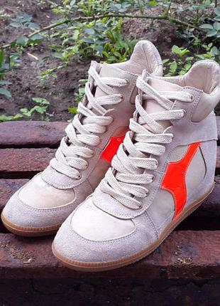 Кожаные сникерсы ботинки кроссовки supertrash 37 р. оригинал