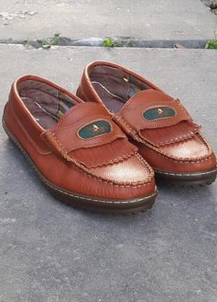 Кожаные мокасины лоферы туфли saiorly 41 р.
