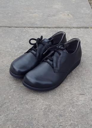 Кожаные ботинки туфли helvesko 41 р. оригинал