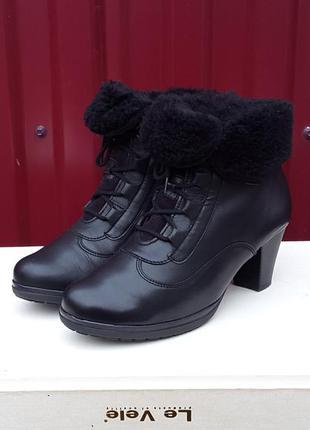 Кожаные ботинки ботильоны gabor 37 р. оригинал
