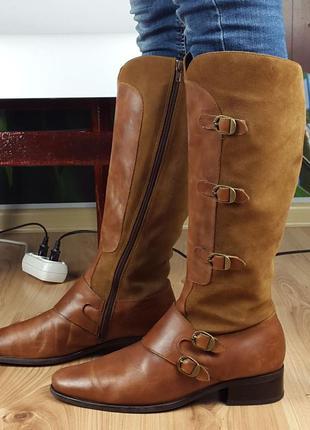 Кожаные ботинки сапоги soft & light 41р.
