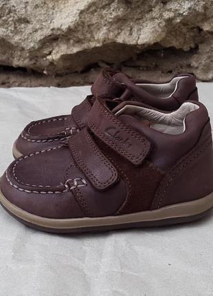 Кожаные кроссовки ботинки clarks 21 р. оригинал