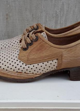 Кожаные туфли лоферы балетки lady's joy 38,5 р.