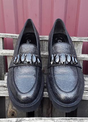 Кожаные лоферы туфли слипоны gabor 39 р. оригинал