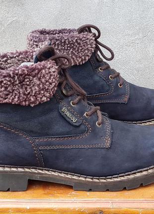 Кожаные ботинки полуботинки fun & co 39,5-40 р.