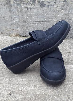 Кожаные туфли балетки ecco 38 р. оригинал
