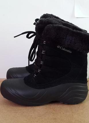 Кожаные зимние ботинки сноубутсы columbia 38 р. оригинал