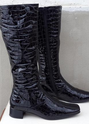 Кожаные демисезонные сапоги ботинки gabor 40 р. оригинал