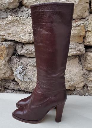 Кожаные демисезонные сапоги ботинки 38 р.