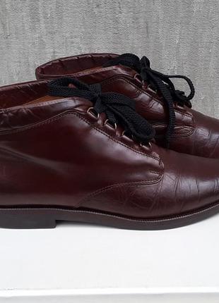 Стильные кожаные туфли ботинки torretti 38 р. италия
