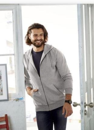 Мужская спортивная кофта толстовка свитер livergy большой размер