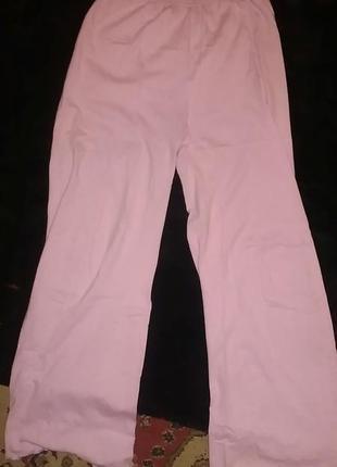 💞домашние розовые ,трикотажные пижамные, брюки.распродажа.