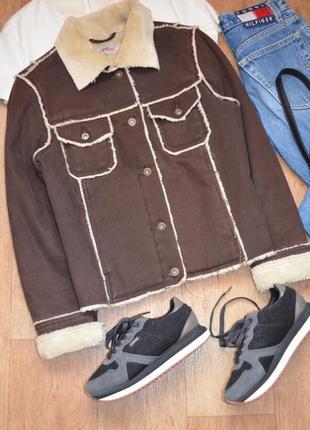 S. oliver куртка замшевая жакет теплый пиджак эко мех эко овчина