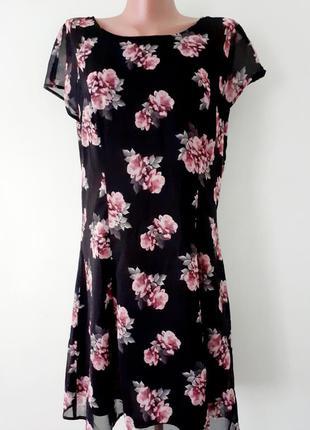 Красивейшее платье миди, в цветочный принт/h&m