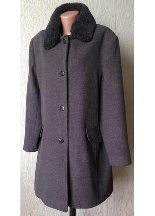 Доступно - деми-пальто *bonmarche* со съемным меховым воротник...