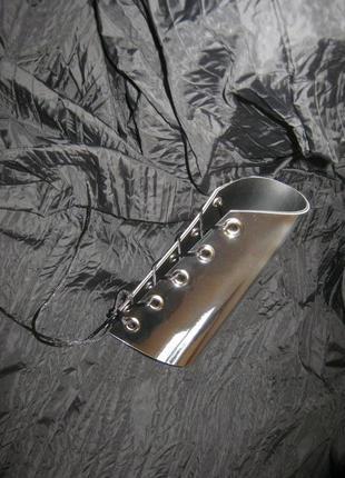 Ультра широкий зеркальный браслет . двухсторонний браслет (зол...