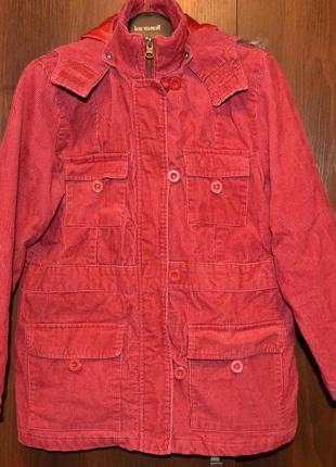 Классная вельветовая куртка, полупальто, рост 140 см