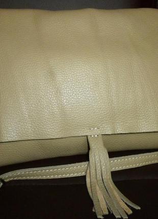 Стильная сумка натуральная кожа borse in pelle италия