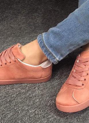 Кеды (кроссовки) для девочки на шнурках, р. 30-35