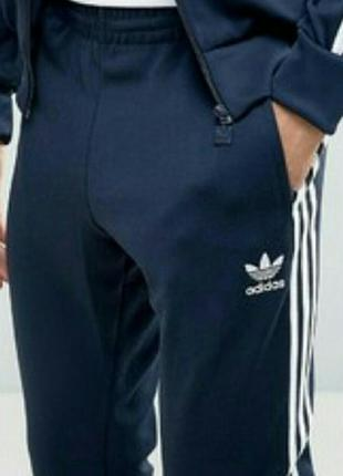 Фирменные adidas (сша) спорт.штаны мужские