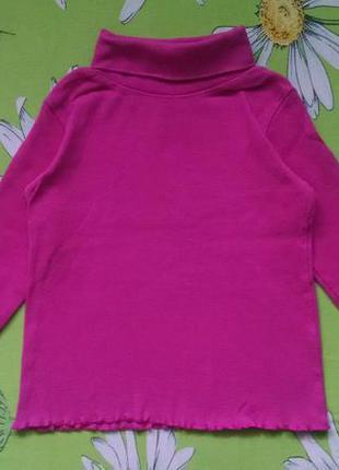 Розовый гольф,водолазка для девочки 3-4 года