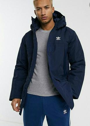 -📢 скидка 📢мужская утепленная куртка парка adidas двухстороння...