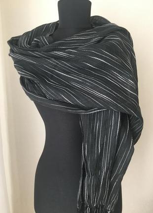 Шарф шаль с натуральной ткани