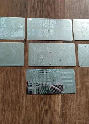 Пластина для стемпинга набор для маникюра ногти стемпинг