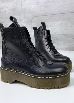 Хит 💥кожаные ботинки dr. martens,крутые ботинки мартенсы из на...