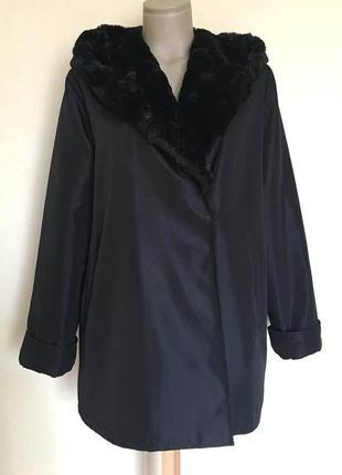 Доступно - болоневое пальто евро-зима с меховым капюшоном *jun...