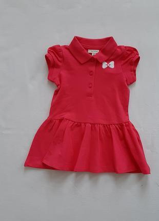 Розовое повседневное платье поло ovs 6-9 мес 68\74 см