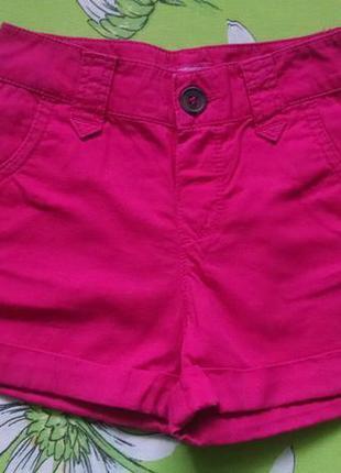 Малиновые шорты для девочки 2-3 года