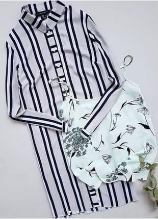 Актуальное платье-рубашка в полоску atmosphere