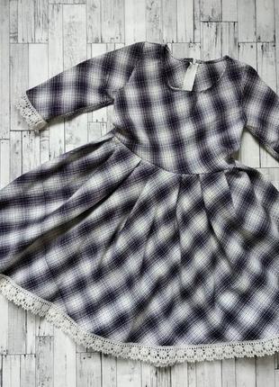 Платье в клетку на девочку 4-5 лет