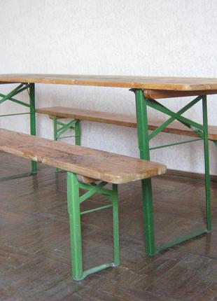 Складные ножки и замки  к ножкам  на 1 стол  и 2 скамьи
