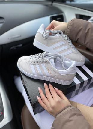 Adidas gazelle grey шикарные женские кроссовки адидас газели