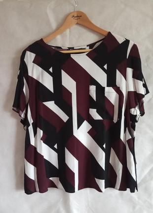 Футболка блуза в геометричний принт