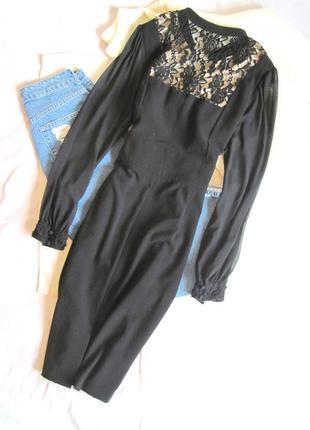 Красивое платье миди с кружевом savoir