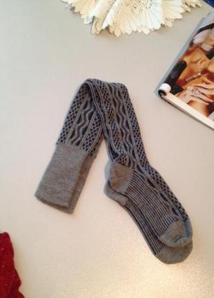 Шерстяные носки гольфы гетры.017