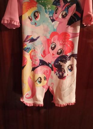 Солнцезащитный пляжный костюм для девочки my little pony