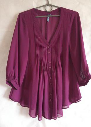 Брендова фуксієва блуза