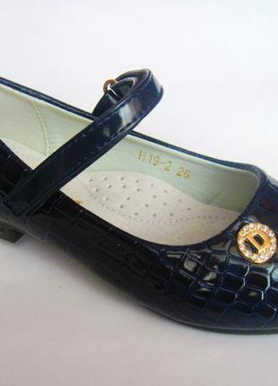 Детские лаковые туфли для девочки, стелька кожаная с супинатор...