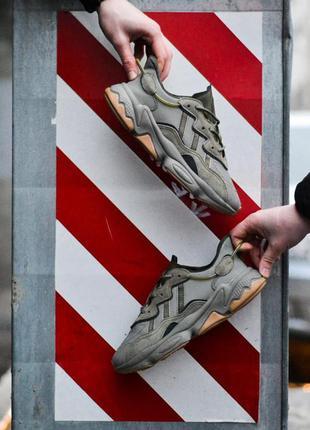 Adidas ozweego khaki шикарные мужские кроссовки адидас хаки
