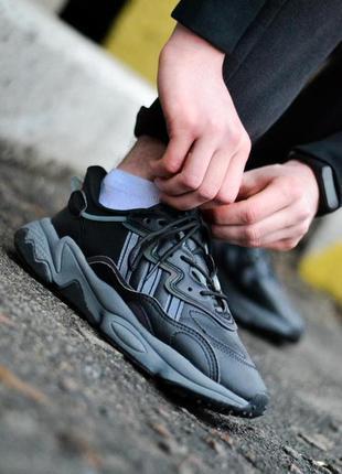 Adidas ozweego black шикарные мужские кроссовки адидас хаки