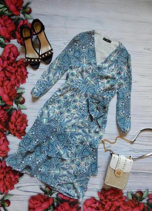 🌿красивое платье на запах. размер м🌿