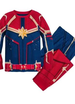 Детская пижама Disney Store для девочек 7-8 лет Captain Marvel