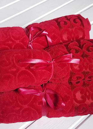 Полотенце махровое с велюром aisha, 50*85 см